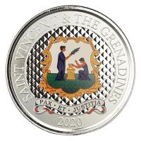 St. Vincent und Grenadinen - 2 Dollar EC8_3 Pax et Justitia PP 2020 - 1 Oz Silber Color