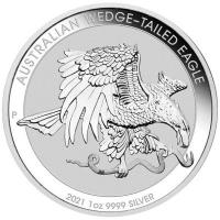 Australien - 1 AUD Wedge Tailed Eagle 2021 - 1 Oz Silber