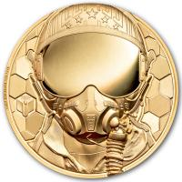 Cook Island - 250 CID Fighter Pilot - Real Heroes 2020 - 1 Oz Gold PP