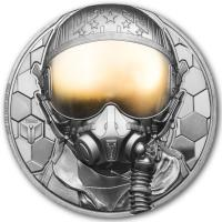 Cook Island - 500 CID Fighter Pilot -  Real Heroes 2020 - 5 Oz Gold