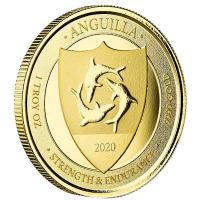 Anguilla - 10 Dollar EC8_3 Coat of Arms 2020 - 1 Oz Gold