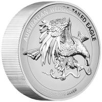 Australien - 8 AUD Wedge Tailed Eagle 2021 - 5 Oz Silber PP HR