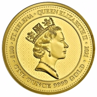 St. Helena - 100 Pfund The Queens Virtues: Victory 2021 - 1 Oz Gold