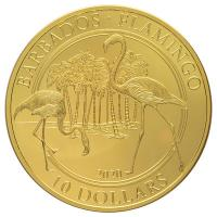 Barbados - 10 Dollar Flamingo 2020 - 1 Oz Gold