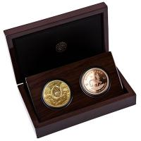 Südafrika - 51 Rand Big Five Buffalo Büffel / Krügerrand 2021 - 2*1 Oz Gold Proof Set