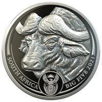 Südafrika - 50 Rand Big Five Buffalo Büffel 2021 - 1 Oz Platin