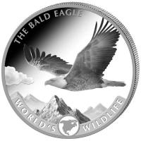 Kongo - 20 Francs Worlds Wildlife Bald Eagle 2021 - 1 Oz Silber