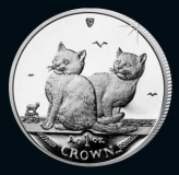 Isle of Man - Cats 2003 - 1 Oz Silber - PP, Box + CoA