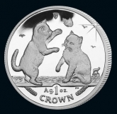 Isle of Man - Cats 2004 - 1 Oz Silber - PP, Box + CoA
