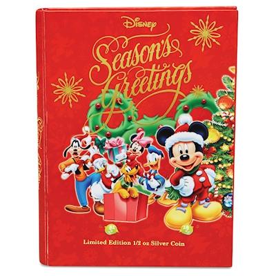Weihnachtsgrüße Disney.Neuseeland 1 Nzd Disney Weihnachtsgrüße 2014 1 2 Oz Silber