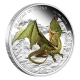 Tuvalu - 1 TVD Dragons of Legend European Green Dragon - 1 Oz Silber