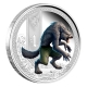 Tuvalu - 1 TVD Mythical Creatures Werwolf 2013 - 1 Oz Silber