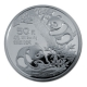 China - 50 Yuan Panda 1990 - 5 Oz Silber PP