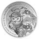 Kanada - 10 CAD Lunar Affe 2016 - 1/2 Oz Silber