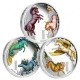 Tuvalu - 3 TVD Horses of Lore and Legend Set - 3 * 1 Oz Silber