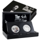 Niue - 2 NZD The Godfather 2-Coin-Set - 2 * 1 Oz Silber