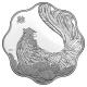 Kanada - 15 CAD Lunar Hahn 2017 - Silber Lotus
