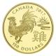 Kanada - 150 CAD Lunar Hahn 2017 - 8,88g Gold PP