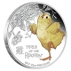 Tuvalu - 0,5 TVD Baby Rooster/Hahn 2017 - 1/2 Oz Silber