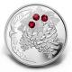 Kanada - 20 CAD Weihnachtskiefer Rubin - 1 Oz Silber