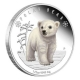 Tuvalu - 0,5 TVD Polar Babies Polarbär 2017 - 1/2 Oz Silber