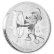 Niue - 2 NZD Disney Steamboat Willie 2017 - 1 Oz Silber