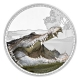 Niue - 2 NZD Könige der Kontinente Krokodil 2017 - 1 Oz Silber