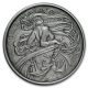 USA - Alfons Mucha Kollektion Dance - 1 Oz Silber Antik Finish