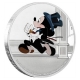 Niue - 2 NZD Disney Mickey Mouse Delayed Date 2017 - 1 Oz Silber