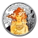 USA - Alfons Mucha Kollektion Rose - 1 Oz Silber PP Color